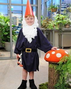 DIY Halloween Costume for Kids: Lawn Gnome