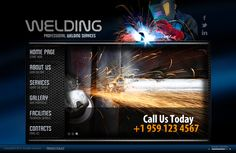Welding Service HTML5 Template by Dynamic Template