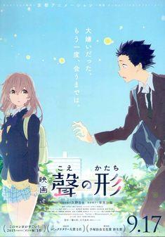 Soo many beautiful anime. Soo many orphans. Cute Poster, Poster Wall, Poster Prints, Film Poster, Manga Covers, Comic Covers, Manga Anime, Manga Art, A Silent Voice Anime