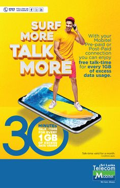 Mobitel DATA SurfMore Talk More on Behance Creative Poster Design, Ads Creative, Creative Posters, Graphic Design Posters, Graphic Design Inspiration, Ad Design, Flyer Design, Layout Design, Photoshop