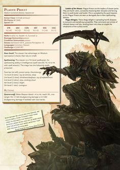 DnD 5e Homebrew — Skaven Monsters by JoshTheGent