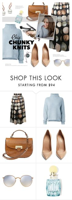 """Cozy up"" by edita1 ❤ liked on Polyvore featuring CO, Le Kasha, Aspinal of London, Yves Saint Laurent, Ray-Ban, Miu Miu, Ashley Graham and chunkyknits"