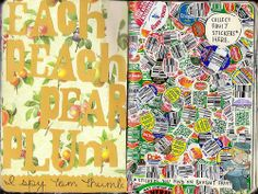 wreck this journal collect fruit stickers - Google Search