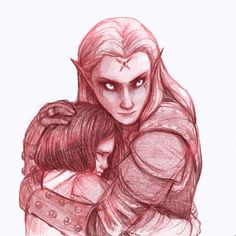 I definitely want to write a story about elves and the human child they protect from the Hunters...IDEA IS FORMING!!!