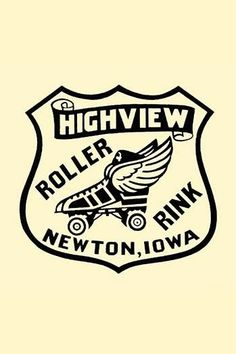 Stickers were issued by roller rinks across the United States. Many were stock designs imprinted with the local skating facility. This was for the Highview Roller Rink in Newton, Iowa.