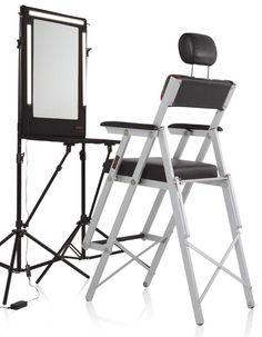 Makeup Station u0026 Chair ...  sc 1 st  Pinterest & Set Makeup chair with headrest for makeup artists | Organizing ...