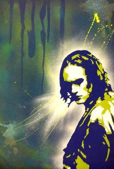 """Brandon Lee """"The Crow"""" spray painting"""