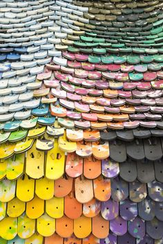 Christophe Machet's roof tiles made from flip-flop soles