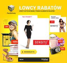 Akcja rabatowa zorganizowana dla internetowego sklepu z bielizną przy współpracy z Inpost.