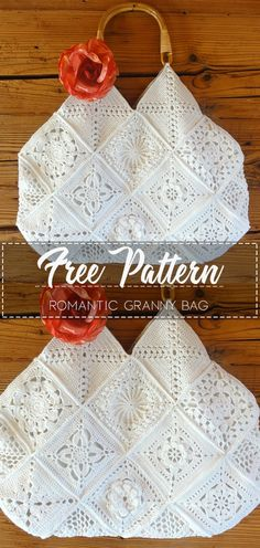 Romantic Granny Bag – Pattern Free – Beautiful Crochet – The Effective Pictures We Offer You About crochet crafts A. Crochet Crafts, Easy Crochet, Crochet Projects, Free Crochet, Crochet Granny, Crochet Bag Tutorials, Blanket Crochet, Diy Crafts, Granny Square Pattern Free