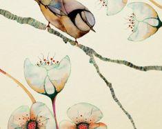 Jardín de mariposas 12 x 16 paisaje por Buttermoths en Etsy