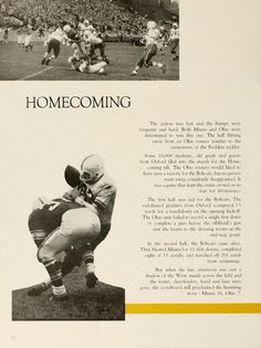 Athena Yearbook, 1957. Homecoming football game outcome. :: Ohio University Archives