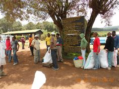 Day 1 Staging Area. Porters readying our supplies...