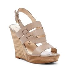 """Sole Society Wedges This platform wedge is a strong choice for everyday wear. Woven leather straps and an adjustable buckle closure deliver both style and stability. Only worn once to a wedding.  Material: Leather Heel Height: 4 1/2"""" Fit: True to size Shoe Width: Medium Sole Society Shoes Wedges"""