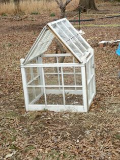 Greenhouse from salvaged windows!
