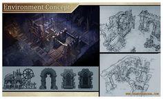 Diablo 3 act 3 environment concept