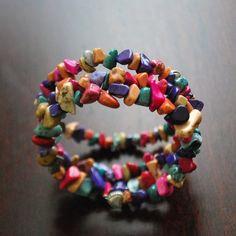 Tracy Ponder's Wrap Bracelet with Semi Precious Stones in Mutli Colors