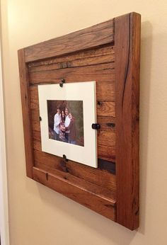 Rustic Wood Frame, 5 x 7 with Mat, 8 x 10 Picture Frame without Mat Rustic Wood Frame Rustic Frame Reclaimed Wood by OakGroveWoodworks Picture Frame Crafts, Reclaimed Wood Diy, Mirror Frame Diy, Wood Wall Art, Wood Picture Frames, Rustic Wood Frame, Diy Frame, Frames On Wall, Driftwood Wall Art