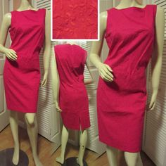 $128 NEW NWT Women Woman RED FLORAL Flower EMBROIDERY Sleeveless Sheath DRESS 12 #dress #dresses #women #woman #red #clothing #fashion