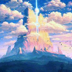 Sky Anime, Anime Art, Kawaii, Some Pictures, Scenery, Fantasy, Nice, Wallpaper, Painting