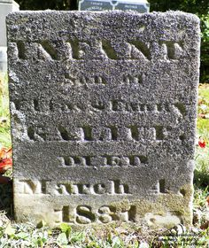 Granite in My Blood: Tombstone Tuesday: Elias and Fanny's Son #genealogy