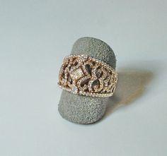Sortija de diamantes talla Bte. en Oro rosa