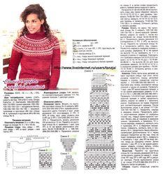 56 Super Ideas For Crochet Sweater Raglan Fair Isles Easy Knitting Patterns, Knitting Blogs, Knitting Charts, Knitting Designs, Knitting Stitches, Fair Isle Pullover, Crochet Baby Cardigan, Icelandic Sweaters, Fair Isles