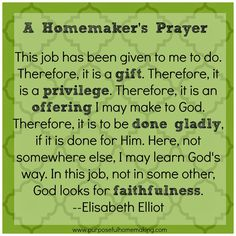 Purposeful Homemaking: Free Homemaking Printable