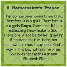 Purposeful Homemaking: Free Homemaking Printable
