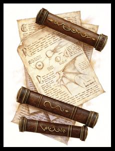 writing scrolls | The writing on a scroll must be deciphered before a character can use ...