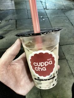 Bubble Tea. Always wanted to try this...