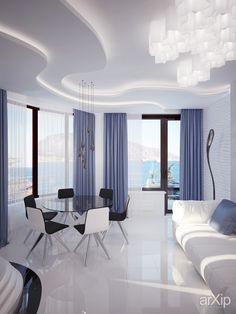 гостиная в Гурзуфе от Vitta-group: интерьер, квартира, дом, гостиная, минимализм, 30 - 50 м2 #interiordesign #apartment #house #livingroom #lounge #drawingroom #parlor #salon #keepingroom #sittingroom #receptionroom #parlour #minimalism #30_50m2 arXip.com