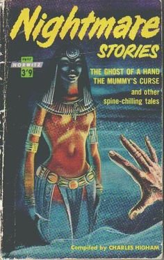 Cover of 'Nightmare Stories' compiled by Charles Higham, published by Horwitz. Includes 'The Mummy's Curse'.