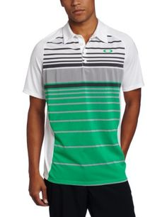 Oakley Men's The Best Polo, White, Large by Oakley. $56.00. Yarn Dye engineered stripe polo with self collar. Oakley Golf Apparel is offered as form and function. Oakley continues to offer the latest in technology and bridges the gap between style and Performance.