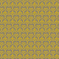 "Mod Damask (Golden) - modern damask design to print on fabric for DIY sewing and crafts. The Textile District prints fabric on demand on the ground fabric you choose. Each image represents 27"" square to show scale of the printed design. #fabrics #textiledistrict"