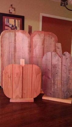 Scrap wood pumpkins! #Autumn♡
