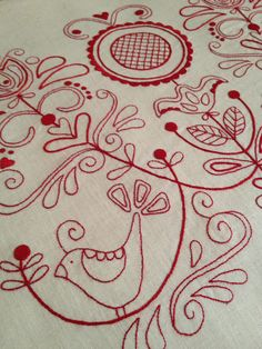 scandi embroidery pattern - Google Search