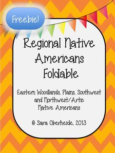 Download this FREE Native American foldable. This is perfect for your students to record facts about the Eastern Woodlands, Plains, Southwest and Artic Native Americans.