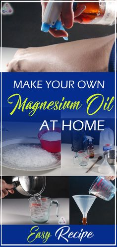 Make your own magnesium oil at home. Magnesium oil is so easy to make! All you need are two ingredients and some basic kitchen utensils/equipment. Magnesium Benefits, Magnesium Oil, Make Your Own, Make It Yourself, How To Make, Kitchen Utensils And Equipment, Basic Kitchen, Holistic Wellness, How To Stay Healthy