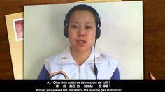 Chinese Language Learning (Mandarin / Putonghua) (04.06): A: Qǐnɡ wèn zuìjìn de jiāyóuzhàn zài nǎlǐ?请问最近的加油站在哪里?Would you please tell me where the nearest gas station is? B: Yánzhe zhè tiáo lù wǎnɡ nán kāi,dì yī ɡè shízì lùkǒu yòuɡuǎi jiù kěyǐ kàndao。沿着这条路往南开,第一个十字路口右拐就可以看到。Drive to the south along this road and you will see the gas station after you turning right at the first crossing. www.e-Putonghua.com