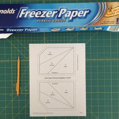 Freezer paper piecing is the BEST - no tearing after you finished a project. SAVES HOURS AND HOURS OF TIME