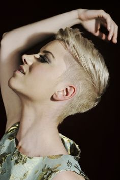 Pixie Cropped undercut short hair. Wish I knew how it would look on me
