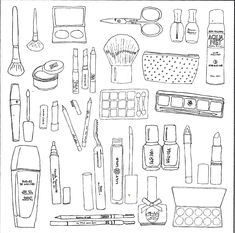 Online Coloring Pages, Colouring Pages, Adult Coloring Pages, Drawing Templates, Bullet Journal, Colorful Pictures, Highlights, Doodles, Barbie