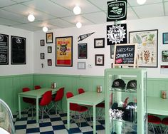 Loving the interior retro feel...and and the Chimichurri Tempeh Taco and the Vegan Eggnog Donut  Taco Party  Sabertooth Bakery  #vegan #tacos #donuts #cupcakes #bakery #somerville #retro #decor  #eastmeetskitchen #sabertoothbakery #tacoparty