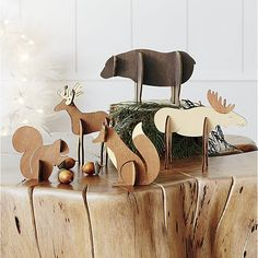 Shop Laser-Cut Wood Moose.  Laser-cut wood pieces assemble into 3-dimensional, freestanding animals for individual display or as part of woodland scene with other objects in the laser-cut wood collection.