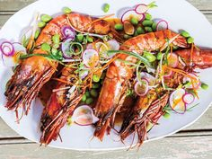 Our Best Australian and New Zealand Recipes: Prawns with Edamame Slaw and Carrot Miso Sauce