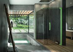 PALME® Aprejo Curve in mintgrün. Divider, Room, Design, Furniture, Home Decor, Houses, Shower Cabin, Showers, Bath Room