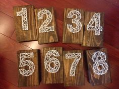 Show Ad - Decor - USA - California - String Art Table Numbers, 1-8 | Weddingbee