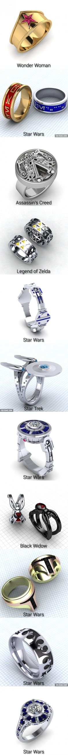 11 Fabulously Geeky Wedding Rings