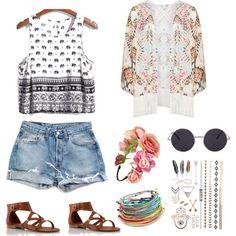 Coachella Style 101 design by moi ❤️ via Polyvore